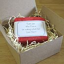 personalised teacher thank you soap in gift box