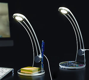 Personalised LED Acrylic Desk Lamp - office & study
