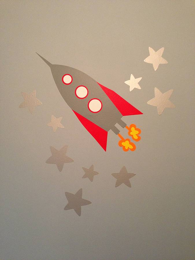 Rocket Wall Stickers By The Little Blue Owl