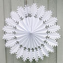 Oak Snowflake Paper Decoration