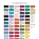 Ribbon colour chart