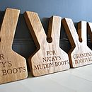 Personalised Oak Boot Jack