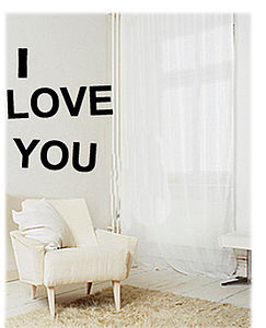 'Love You' Wallsticker