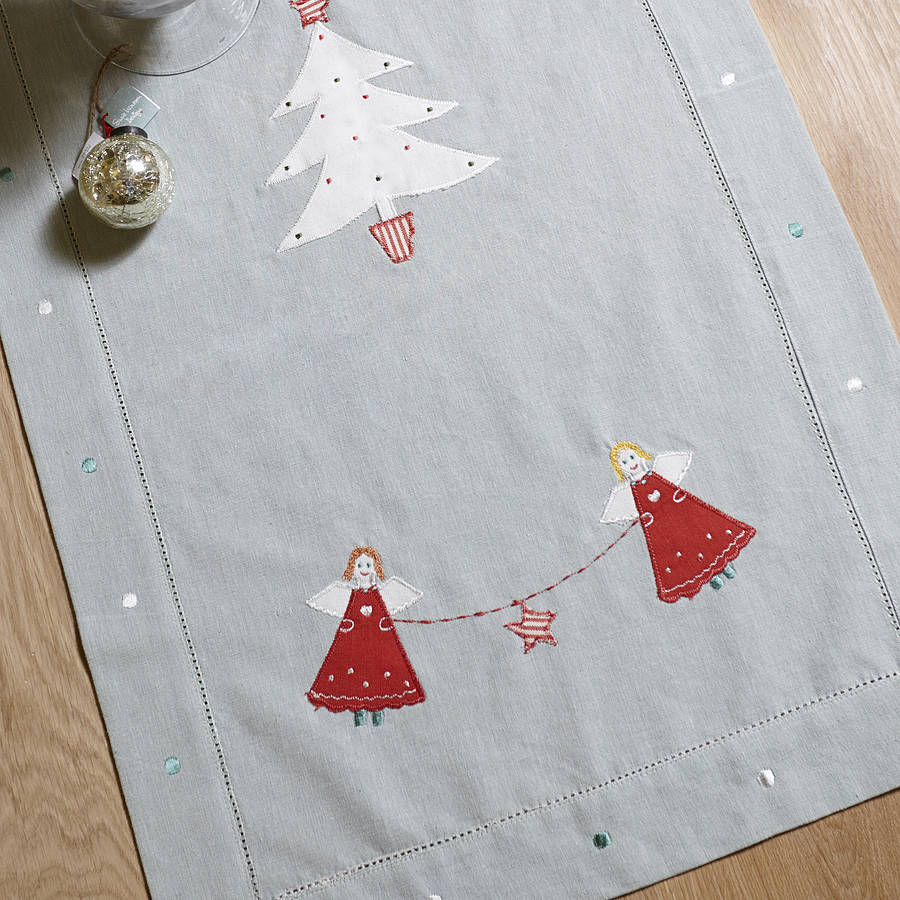 Christmas table runner by susie watson designs