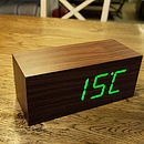 Large Walnut Click Clock