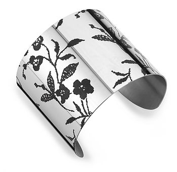 French Lace Pattern Stainless Steel Cuff