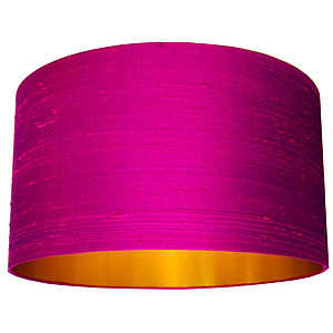 Silk Dupion Lampshade In Hot Pink - lighting