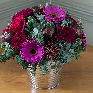 Pink Champagne Posy Bucket