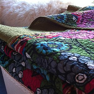 African Voile Double Quilt - bedroom