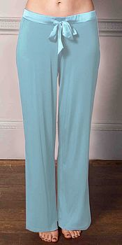 Modal Pant With Satin Trim