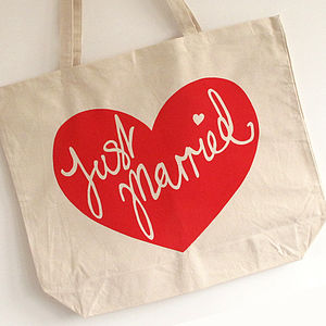 'Just Married' Honeymoon Tote - honeymoon accessories