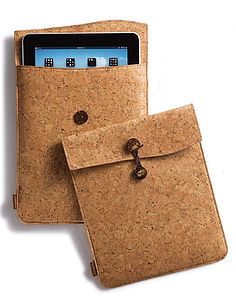 Cork Fabric Travel Case For IPad - tech accessories for her