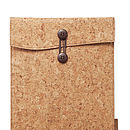 Cork Fabric Travel Case For IPad