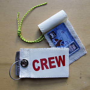Recycled Sailcloth Flight Crew Luggage Tags - passport & travel card holders
