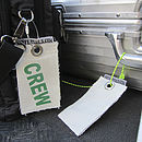 Recycled Sailcloth Flight Crew Luggage Tags
