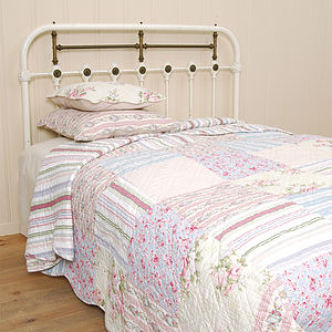 Country Pastel King Patchwork Quilt - bed, bath & table linen