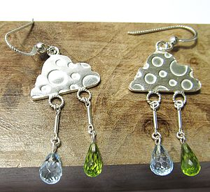 Silver Lining Earrings - earrings