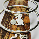 Wonderland Bangle- White Rabbit & Cheshire cat