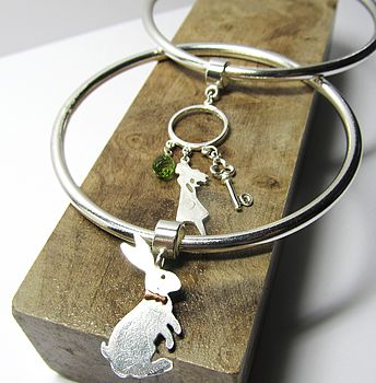 Wonderland Bangle-Alice & March Hare