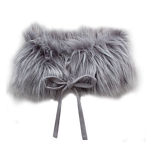 French Design Girls Faux Fur Collar - hats, scarves & gloves