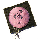 Sumptuosity treble clef handbag mirror (colour - wild orchid)