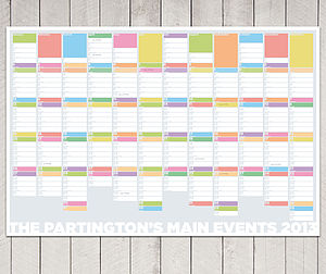 Personalised Family Wall Planner - diaries & calendars