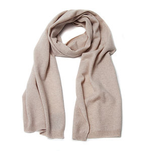 Pure Cashmere Long Scarf - scarves