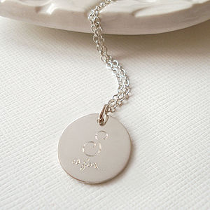 Sterling Silver Sister Necklace - for sisters