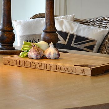 Personalised Hand Engraved Oak Carving Board