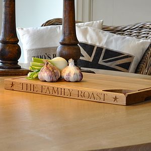Personalised Hand Engraved Oak Carving Board - kitchen