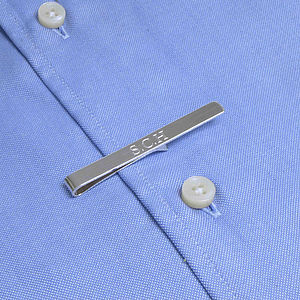 Personalised Silver Tie Clip - gifts for him