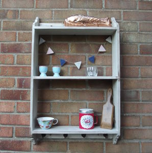 Country Kitchen Wall Rack - shelves
