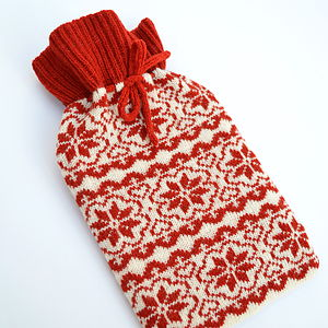 Scandinavian Knitted Hot Water Bottle Cosy - cosy gifts