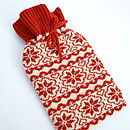 Scandinavian Knitted Hot Water Bottle Cosy