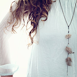 Feather Charm Necklace - jewellery