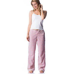 Long Leg Brushed Cotton Pyjama Bottoms
