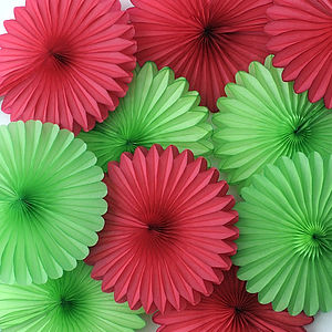Paper Fan Set - outdoor decorations