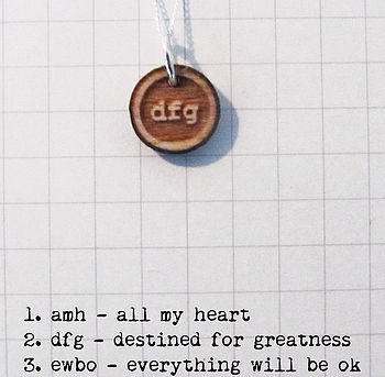 Destined For Greatness Secret Code Necklace