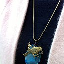 Agate And Bird Necklace