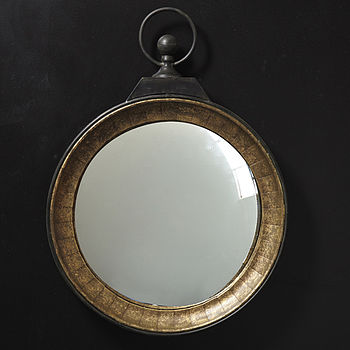 Gold Pocket Watch Mirror