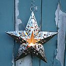 Embossed Cut Out Star Tea Light