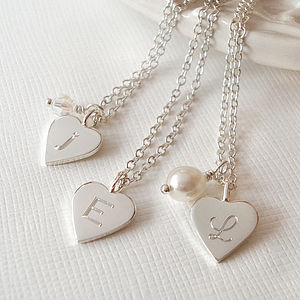 Personalised Silver Tiny Love Heart Necklace - charm jewellery