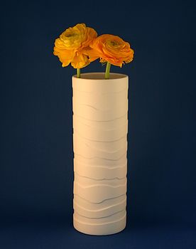 Lateral Porcelain Vase