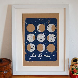 'La Luna' Screen Print - shop by price