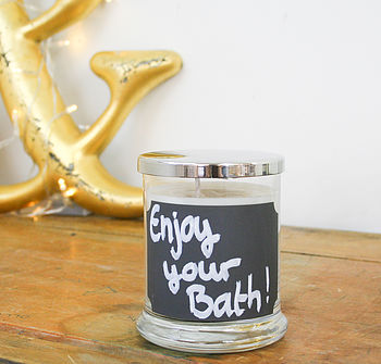 Personalised Soy Candle