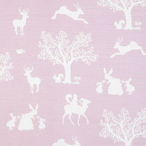Enchanted Woodland Linen Fabric - throws, blankets & fabric