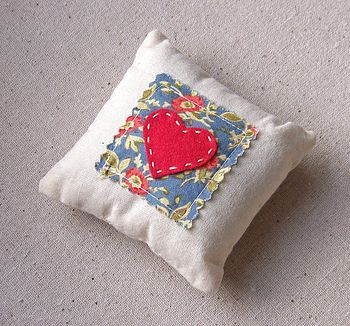 Floral and Love Heart Lavender Pillows