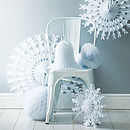 Paper Tissue Snowflake Christmas Decorations