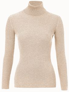 50% Off Super Soft Roll Neck Top In Natural Yarns