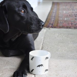 Labrador 'Sit!' China Mug - view all father's day gifts